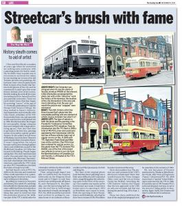 Toronto Sun Article Streetcars Brush With Fame