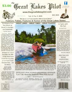 Canadian Artist Kenneth Kirsch Featured In Great Lakes Pilot Newpaper